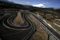 An aerial view of corners at Fuji Speedway