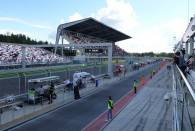 View from the pit lane at Moscow Raceway during its inaugural event