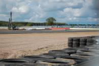 A view across the gravel trap of the new Abbey Corner