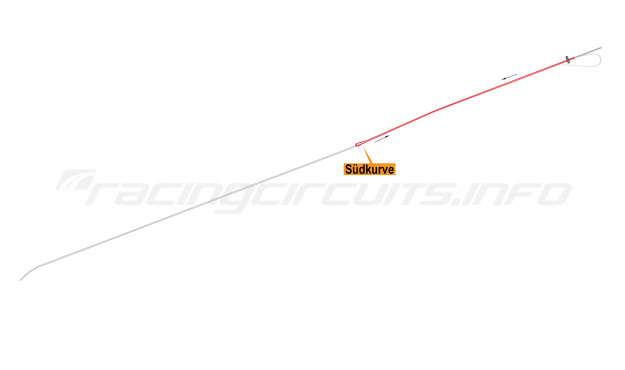 Map of AVUS, Main circuit 1968-70