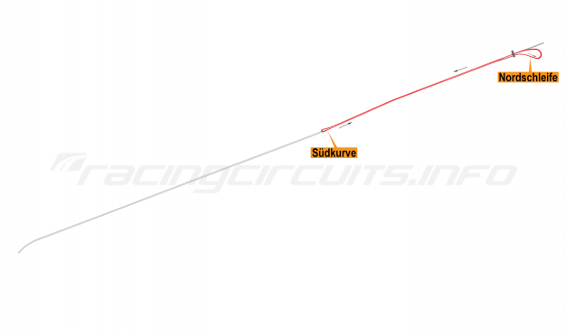 Map of AVUS, Main circuit 1971-86