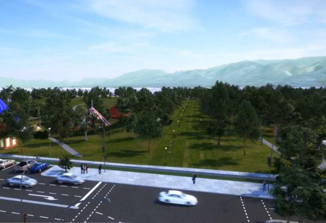 Artists impression of the extended Rundle Park