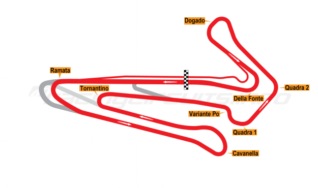 Map of Adria, Bike Circuit 2012 to date