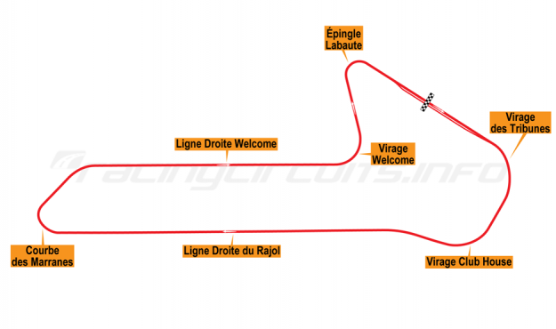 Map of Albi, Grand Prix Circuit 1962-80