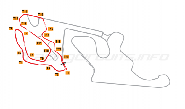 Map of Almería, Andalucia  Circuit No 2 (Alternate) 2018 to date
