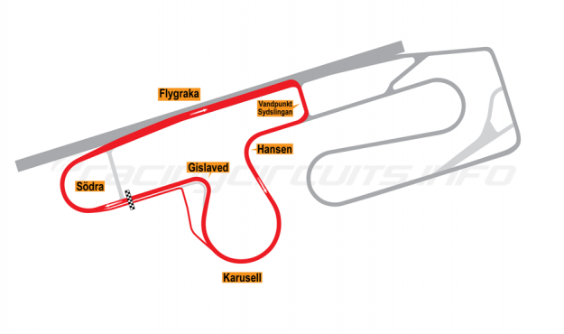 Map of Anderstorp, South Circuit 1972-92
