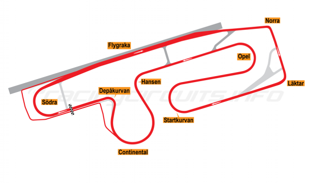 Map of Anderstorp, Grand Prix Circuit 1998-2006