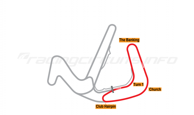 Map of Anglesey Circuit, Club Circuit 2006 to date