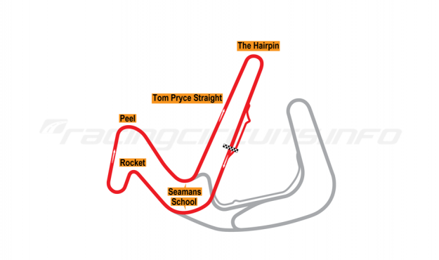 Map of Anglesey Circuit, National Circuit 2006 to date
