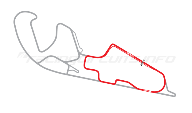 Map of Motorland Aragón, Motorcycle National Circuit 2009 to date