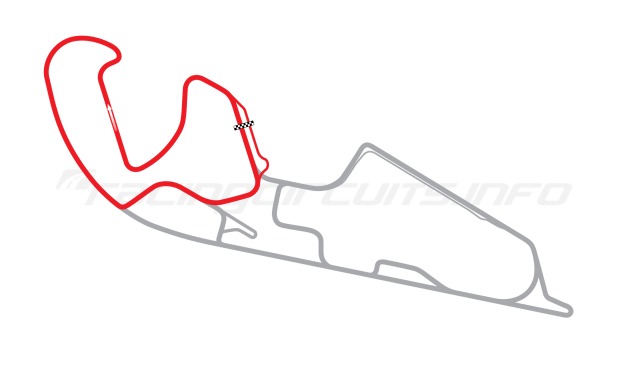 Map of Motorland Aragón, West Circuit 2009 to date