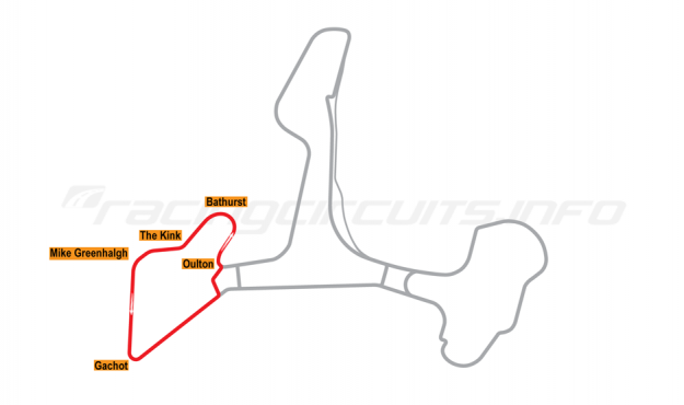 Map of Ascari Race Resort, Circuit 3 2002 to date