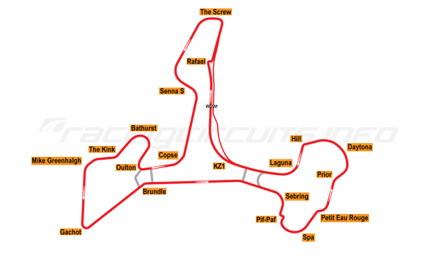 Map of Ascari Race Resort, 2002 to date