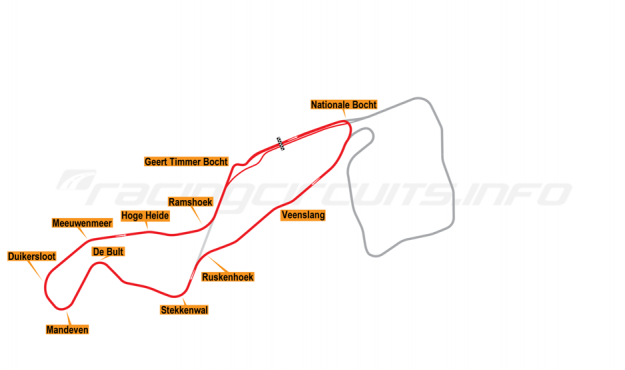 Map of TT Circuit Assen, National Course 2002-04