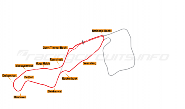 Map of TT Circuit Assen, National Course 2005