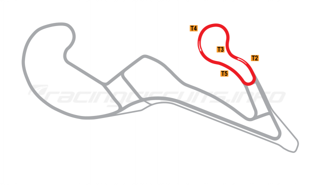 Map of Atlanta Motorsports Park, Drift oval circuit 2013 to date