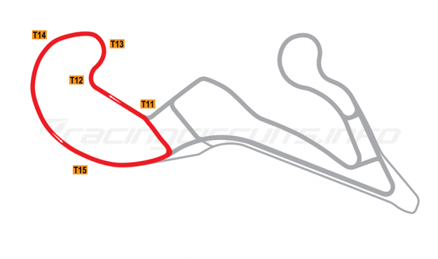 Map of Atlanta Motorsports Park, Variation 1 circuit 2013 to date
