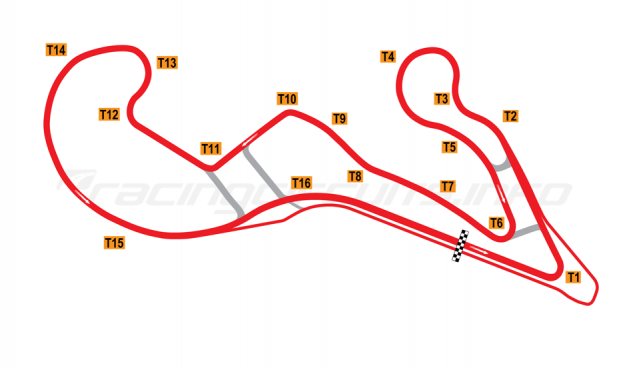 Map of Atlanta Motorsports Park, 2013 to date