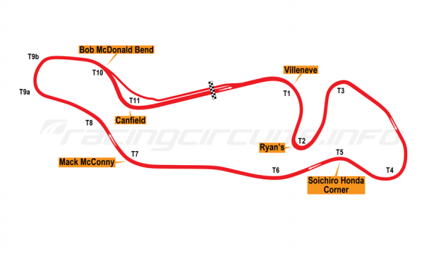 Map of Atlantic Motorsports Park, 1974 to date