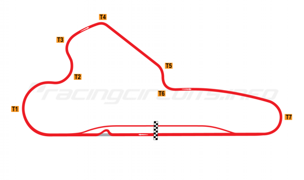 Map of La Chutana, Full circuit with chicane 2012 to date