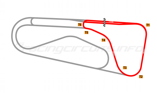 Map of Autódromo Ricardo Mejía, Club Circuit 1971-80