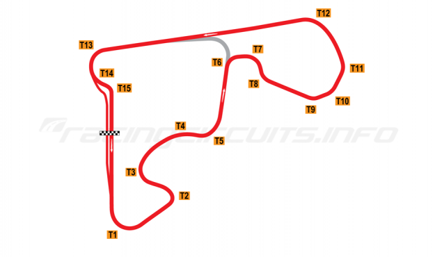 Map of Autódromo de Rivera, 2013 to date