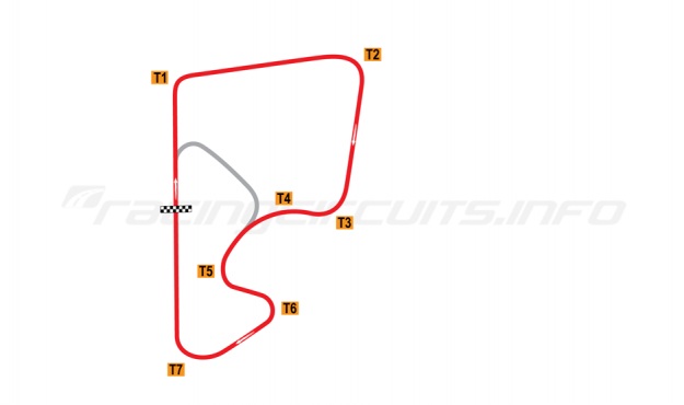 Map of Autódromo de Rivera, Full Circuit 1962-199?