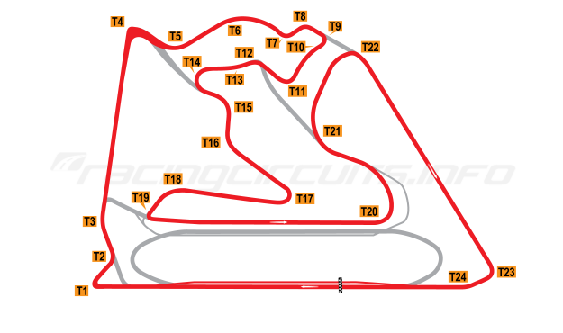 Map of Bahrain International Circuit, Endurance Circuit 2004 to date