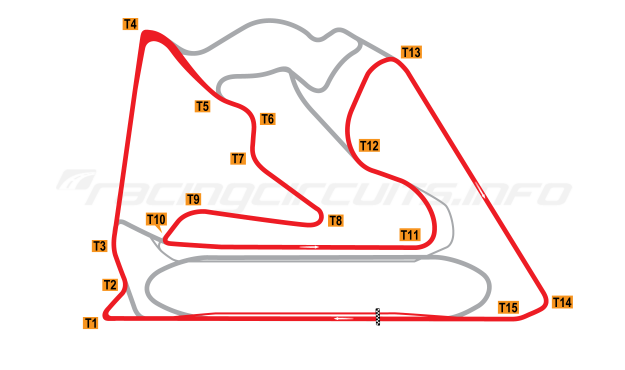 Map of Bahrain International Circuit, 2004 to date