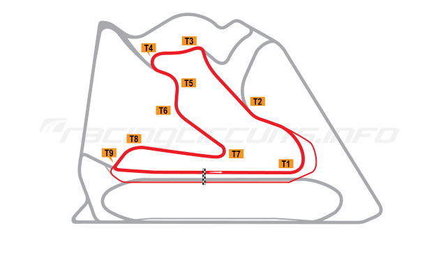 Map of Bahrain International Circuit, Inner Circuit 2004 to date