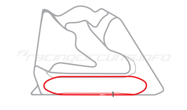 Map of Bahrain International Circuit, Test Oval 2004 to date