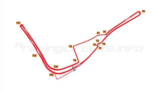 Map of Baku, Street Circuit 2014
