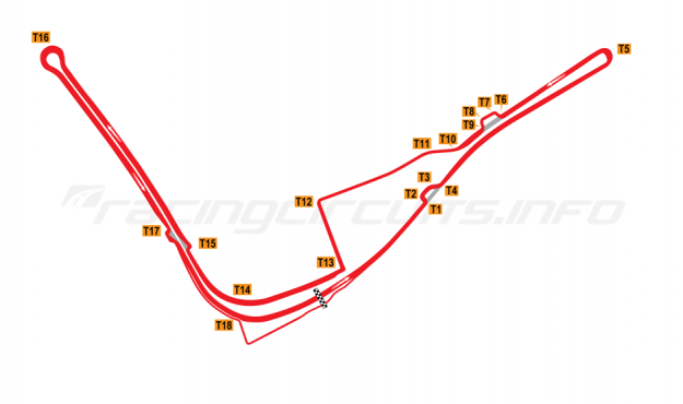 Map of Baku, Street Circuit 2013