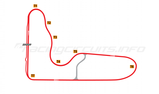 Map of Barbagallo Raceway Wanneroo, Long circuit 2002-2011