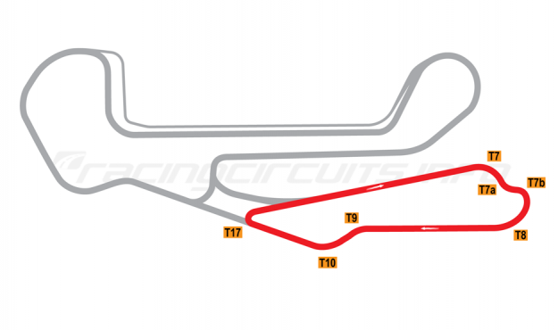 Map of Barber Motorsports Park, Club Circuit 2003 to date