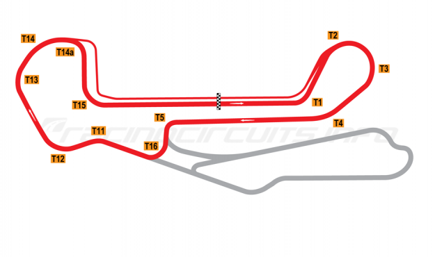 Map of Barber Motorsports Park, Short Circuit 2003 to date