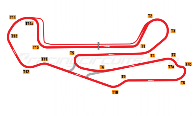 Map of Barber Motorsports Park, 2003 to date