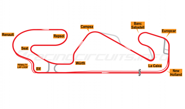 Map of Circuit de Barcelona-Catalunya, Motorcycle Grand Prix Circuit 2021 onwards