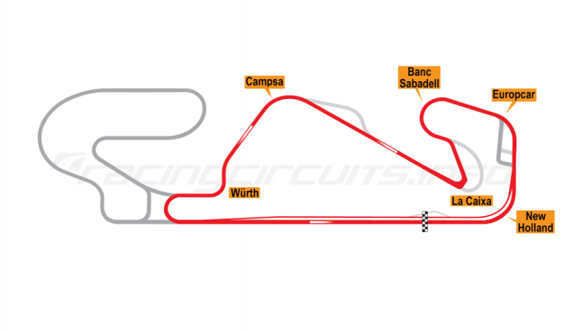 Map of Circuit de Barcelona-Catalunya, Motorcycle National Circuit 2018