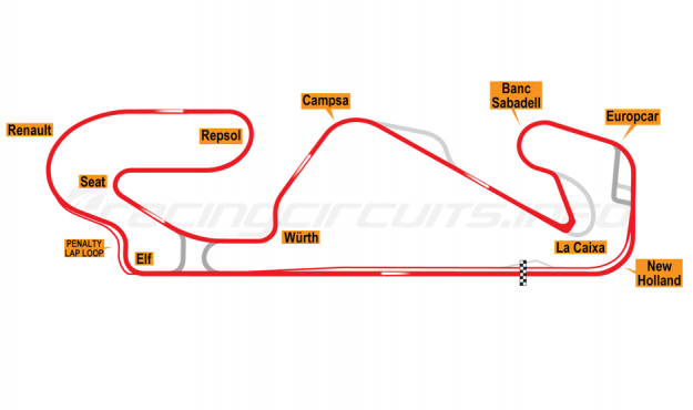 Map of Circuit de Barcelona-Catalunya, Motorcycle Grand Prix Circuit 2019-20
