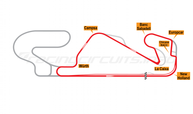 Map of Circuit de Barcelona-Catalunya, National Circuit 2018