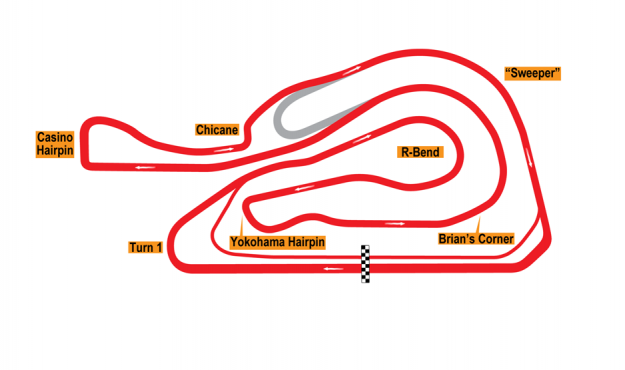 Map of Batangas, Full Circuit 2002-04