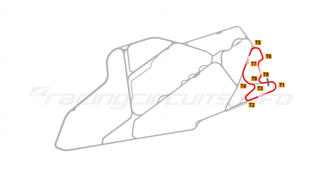 Map of Bedford Autodrome, East Circuit 1999-2002
