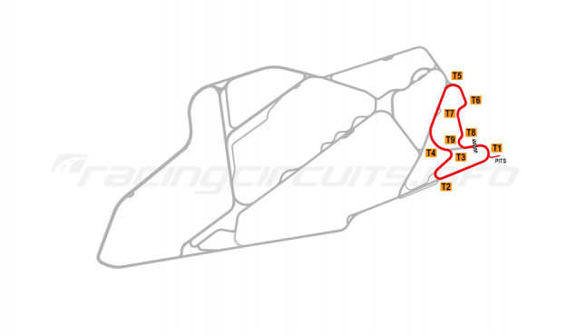 Map of Bedford Autodrome, East Circuit 2003