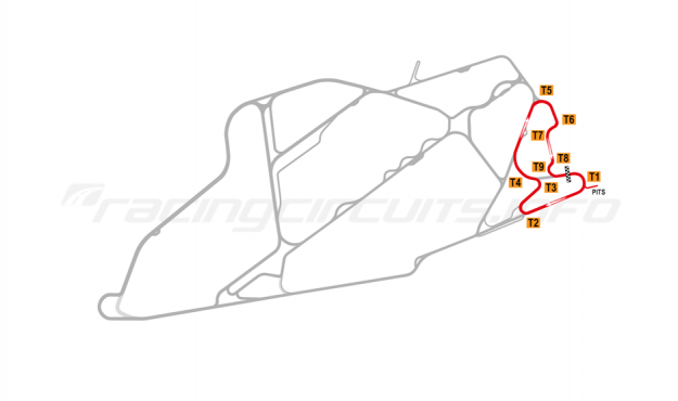 Map of Bedford Autodrome, East Circuit 2004-07