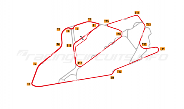Map of Bedford Autodrome, GT Circuit 2003