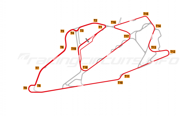 Map of Bedford Autodrome, GT Circuit 2004-07