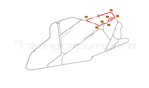 Map of Bedford Autodrome, North Circuit 1999-2002