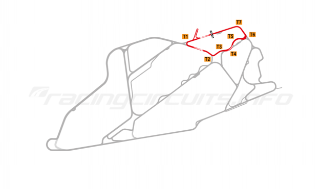 Map of Bedford Autodrome, North Circuit 2004-07