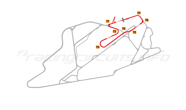 Map of Bedford Autodrome, North Circuit 2015 to date
